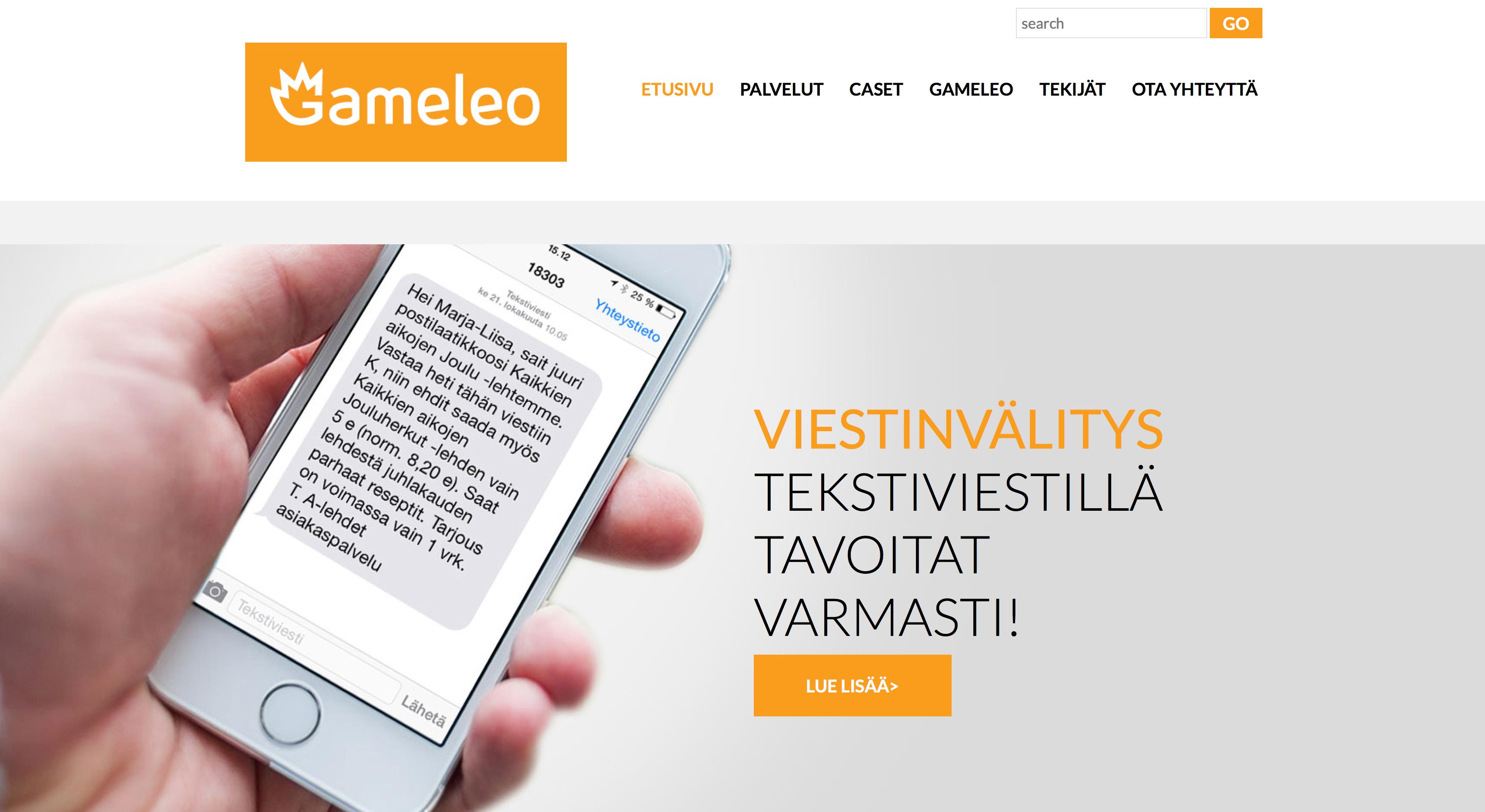 Gameleo.fi sivuston uudistus